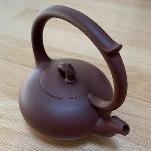 Purple Clay Teapot with Loop Handled